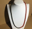 Garnet stone Om mani pad me hum black red bead necklace
