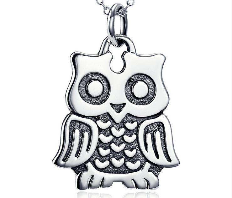 925 sterling silver owl necklace - Xingjewelry