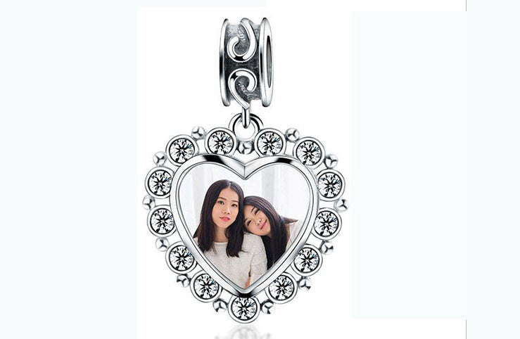 925 sterling silver photo charm pendant - Xingjewelry