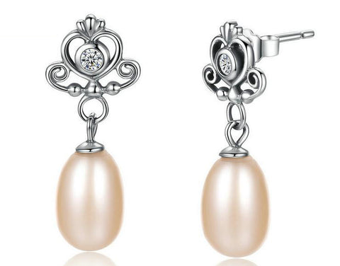 pure 925 sterling silver pearl earring - Xingjewelry