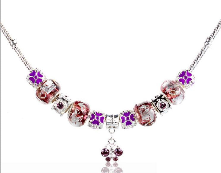 silver coating combination necklace - Xingjewelry
