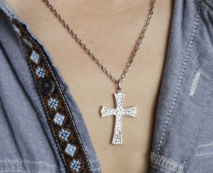 925 sterling silver cross pendant necklace - Xingjewelry