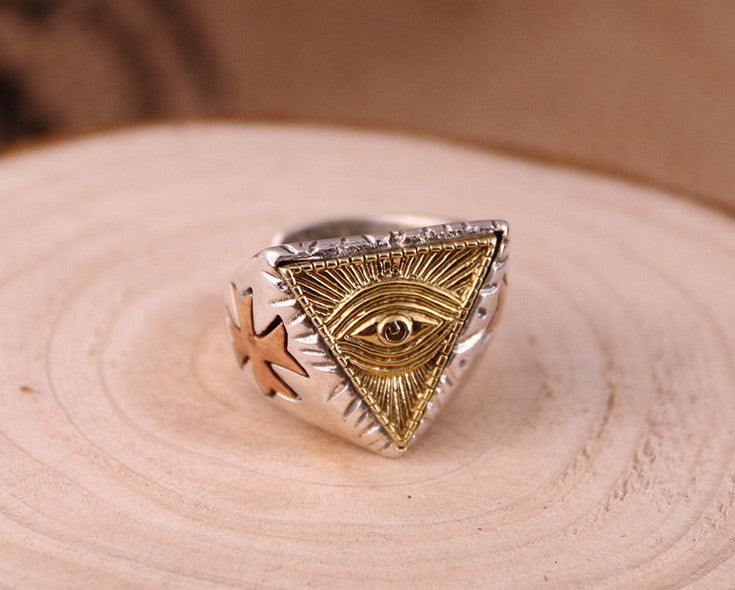 SiLVER HORUS EYE OPEN RING
