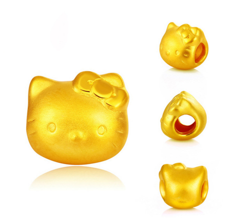 24K GOLD HELLO KITTY CHARM BEAD - Xingjewelry