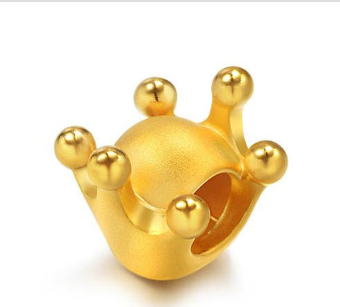 24 k pure gold crown pendant charm - Xingjewelry