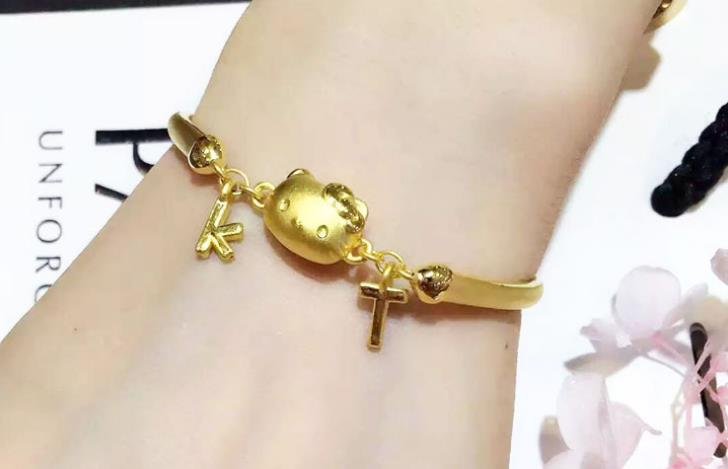 adjustable 24k hello kitty bracelet - Xingjewelry
