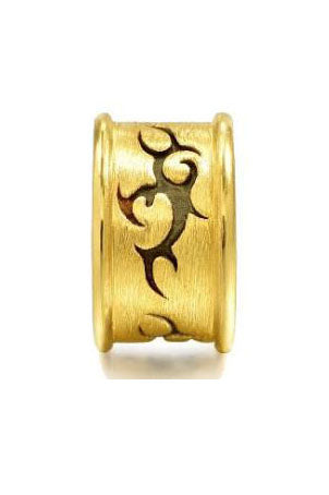 "24 k pure gold ""courage""symbol charm - Xingjewelry"