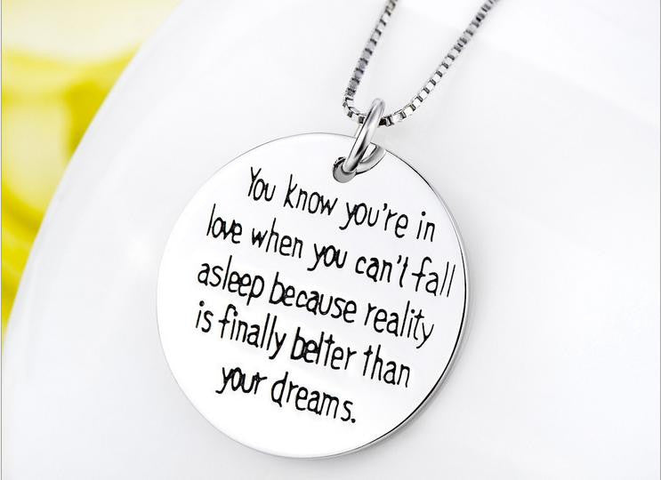 belief pendant necklace - Xingjewelry