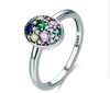 925 sterling silver colorful zircon stone ring new year christmas holiday gift