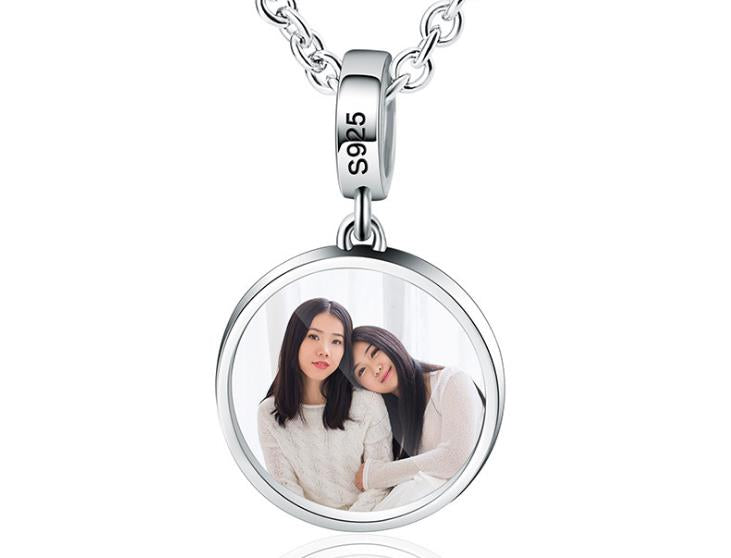 925 sterling silver photo charm - Xingjewelry