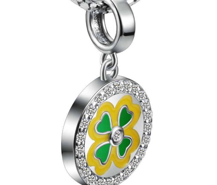 925 sterling silver photo charm daisy design - Xingjewelry