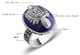 vampire diaries personalized 925 sterling silver vintage natural lapis lazuli stone set ring