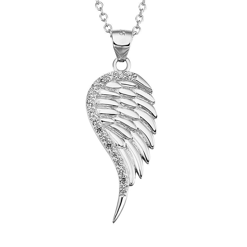 925 sterling silver angel wing necklace - Xingjewelry