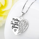 925 silver mother & daugter necklace - Xingjewelry