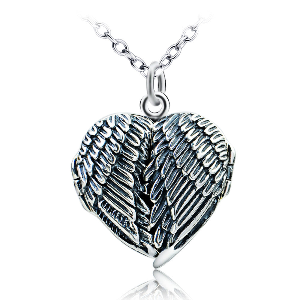 925 silver heart shape picture pendant necklace - Xingjewelry