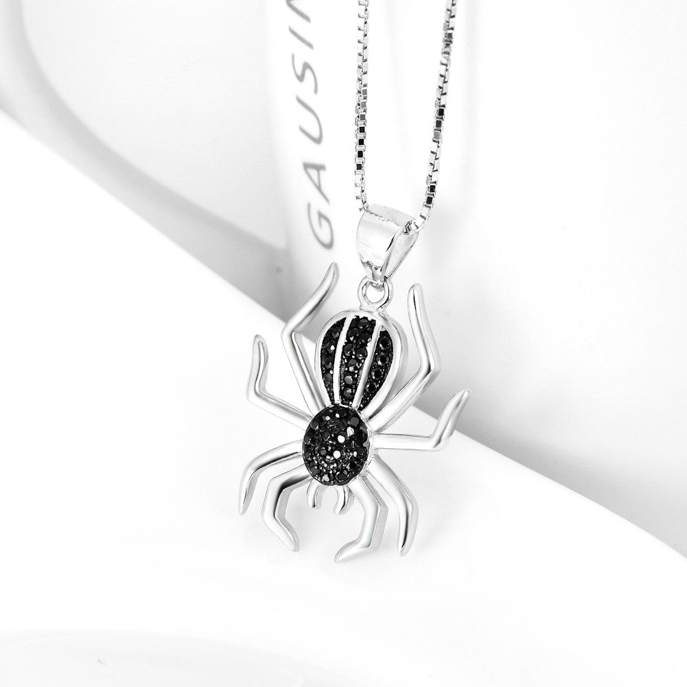925 sterling silver spider necklace,amazon hot selling one - Xingjewelry