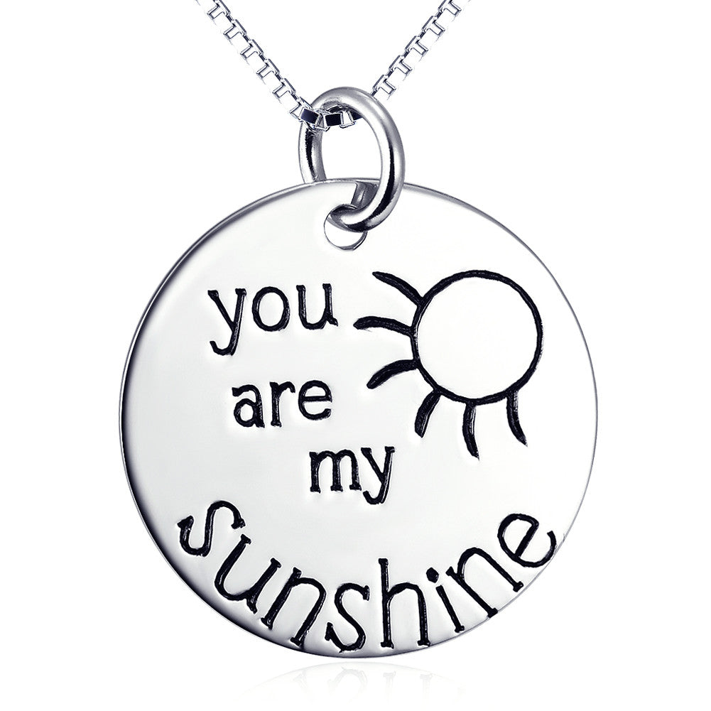 925 sterling silver sunshine necklace - Xingjewelry