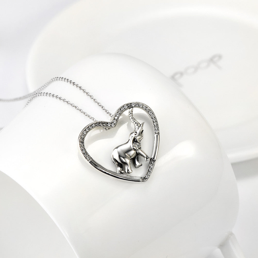 925 sterling silver elephant necklace - Xingjewelry
