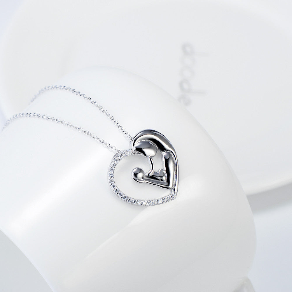 925 silver mother&son necklace - Xingjewelry