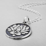 925 sterling silver lotus flower necklace - Xingjewelry