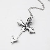 vintage 925 sterling silver cross necklace - Xingjewelry