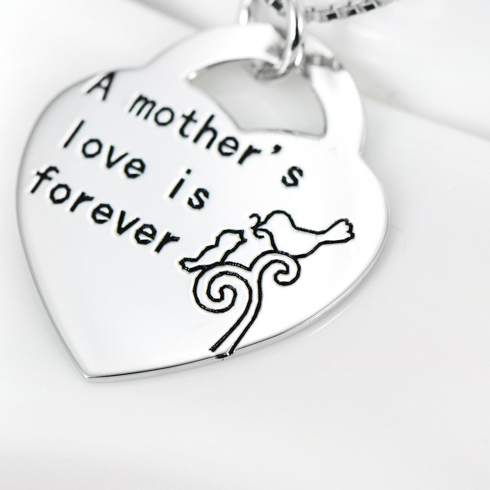 925 sterling silver mother's love necklace - Xingjewelry