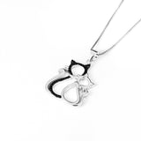 925 sterling silver cat necklace - Xingjewelry