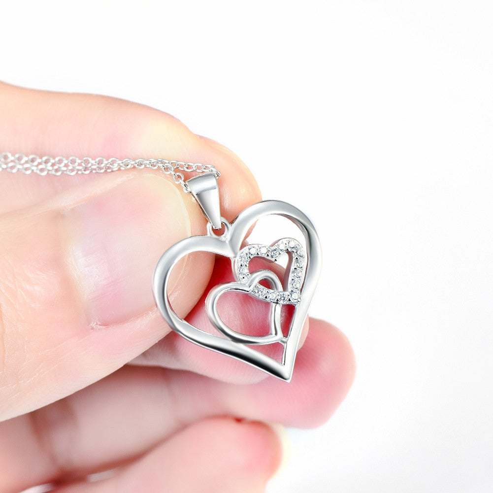 925 sterling silver love necklace - Xingjewelry