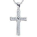 925 sterling silver plain silver cross necklace - Xingjewelry