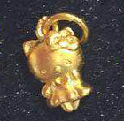 Gold cute girl charm pendant