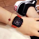 NEW hot Gucci red 2 pcs set watch - Xingjewelry