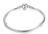 Pandora 925 sterling silver bracelet snake chair in Mickey mouse clasp - Xingjewelry