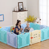 8 Panels Fashion Large Playing Area Folding Baby Playpen baby play fence baby play yard HOT! - Xingjewelry