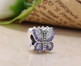 925 sterling silver butterfly charm bead - Xingjewelry