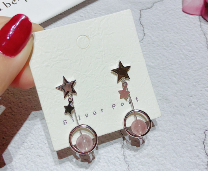 925 sterling silver star moon pendant earring