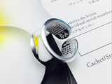 925 sterling silver heart sutra print open ring