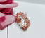 925 sterling silver rose gold flower ring