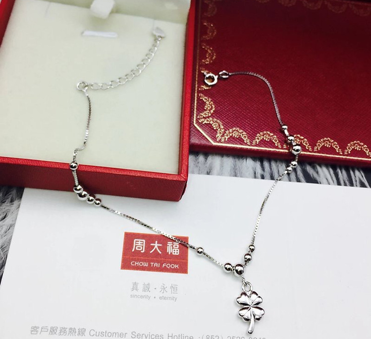 925 sterling silver anklet - Xingjewelry