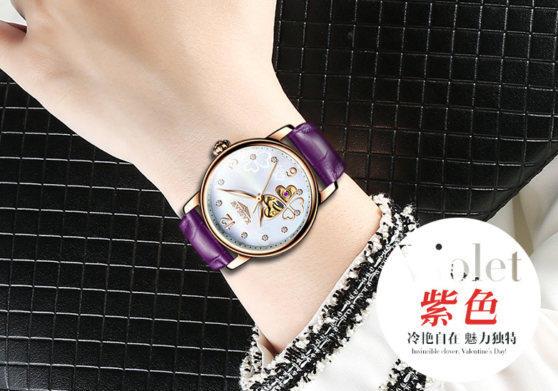 Kassaw automatic locket night lights lady watch