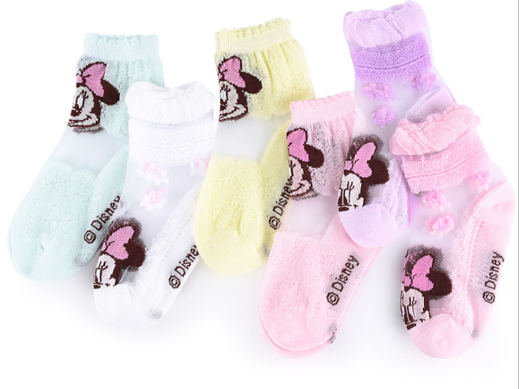 Disney cartoon children sock 2-12 age girl/6 pair