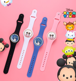 Digital disney pink mickey minnie  rubber belt watch