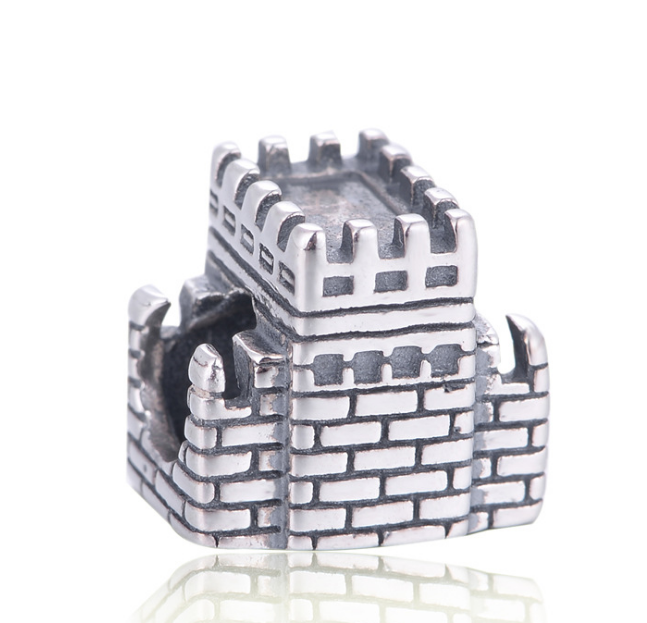 925 sterling silver great wall bracelet charm