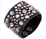 rivet punk leather bracelet for man and woman - Xingjewelry