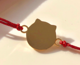 999 gold fortune cat charm bracelet 新款18K金彩色珐琅招财猫手链