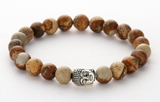 agate stone buddha beaded elastic hot selling bracelet