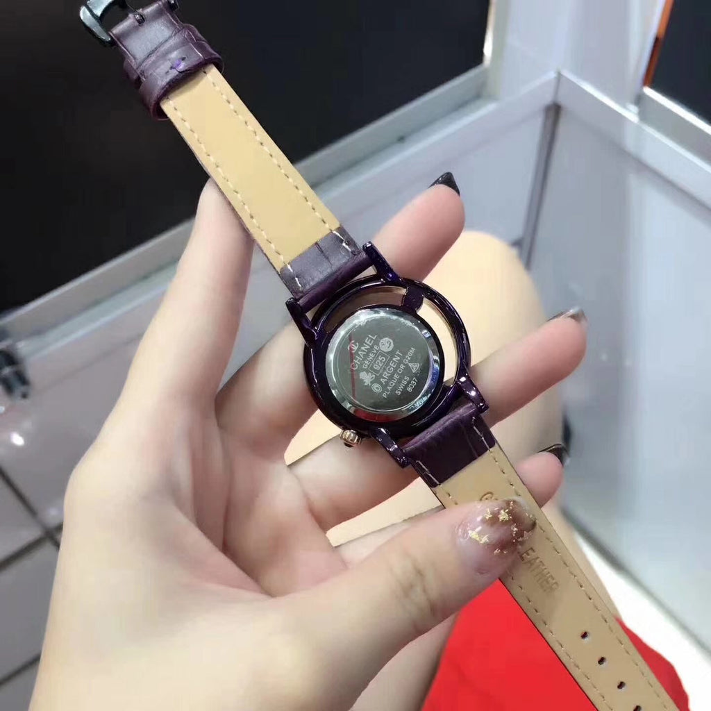 Chanel leather belt watch for woman - Xingjewelry