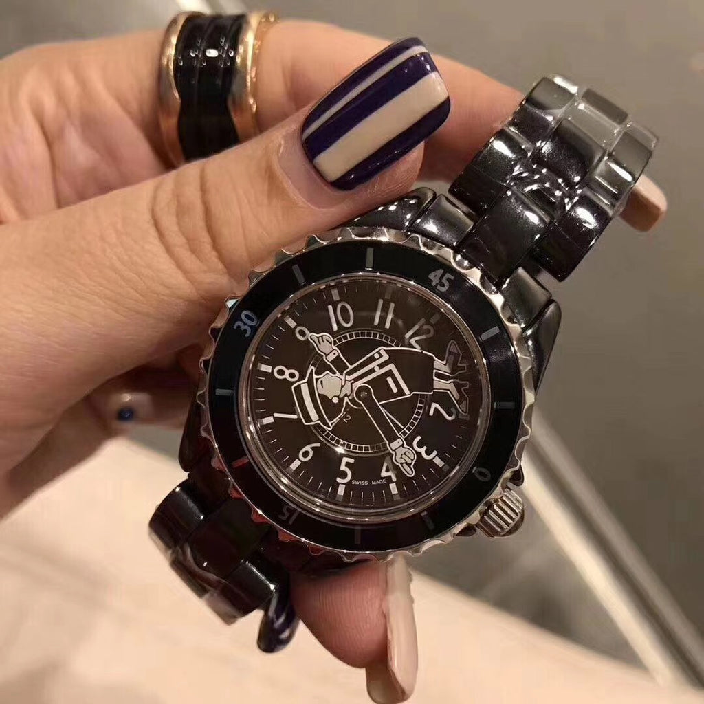 Chanel porcelin watch for woman black white two colors - Xingjewelry