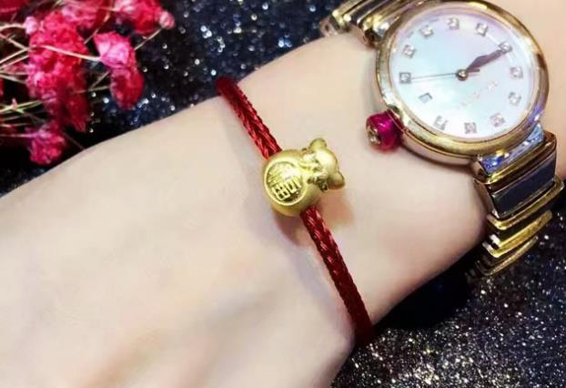 chinese fu happiness charm leather bracelet - Xingjewelry