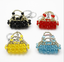 shopping bag crystal pendant for necklace