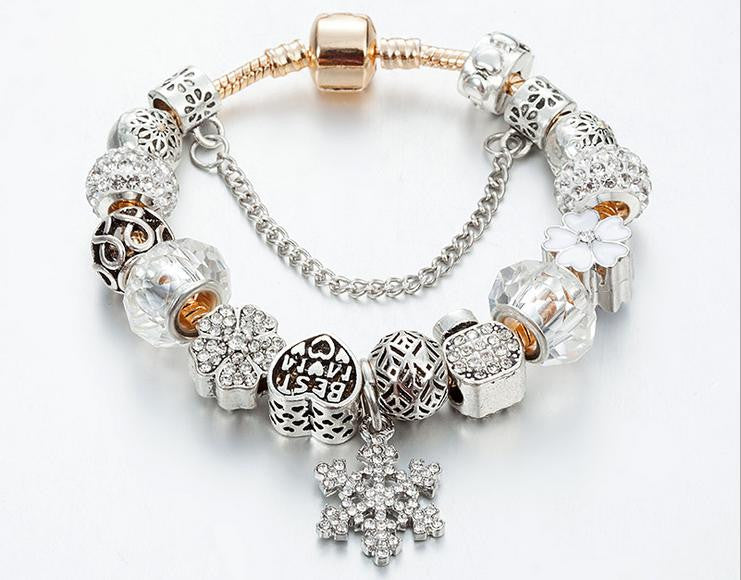 luxury crystal color friend gift charm bracelet - Xingjewelry